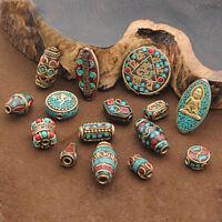 Hot Nepalese Tibetan Brass Alloy Loose Spacer Beads Tibet Nepal jewelry Findings