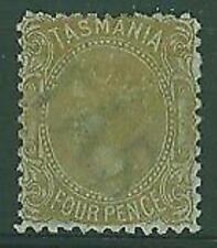 Tasmania Australian States SG 153 4d buff Sideface p12 Mint
