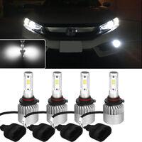 Bright White 9005+9006 6000K CSP COB LED Headlight Combo Hi/Low Beam Lamps Bulbs