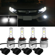 Bright White 9005+9006 6000K CSP COB LED Headlight Combo Hi/Low Beam Lamps Bulbs