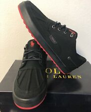Polo Ralph Lauren Men's Ramiro Sneakers Canvas Shoes Black Size 11 D