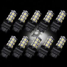 10x White 18SMD Reverse Brake/Stop/Turn Tail Back Up LED Light Bulb 3157 5050