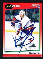 Derek King #167 signed autograph 1991-92 Score Hockey Canadian Release Card