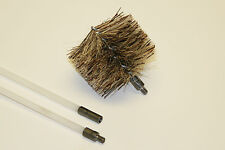 "Vent Exhaust Flue Cleaning Kit Pellet Fireplace  1- 3"" Brush + 5- 4' Rods! SALE!"