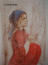 Heddi  artist proof    pre 1974 by Edna Hibel