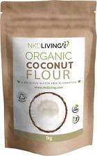 Organic Coconut Flour 1kg by NKD Living - Soil Association Organic Certified
