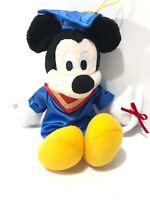 "Disney Mickey Mouse Graduation Plush. 9"" Doll, College Graduate Mickey W Diploma"