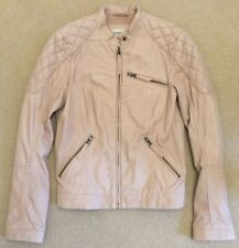 Brand New Pristine Condition Esprit Ladies Leather Jacket Pink/Nude RRP £240