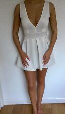 Top shop Scuba Ladies Dress Cream White Size Small