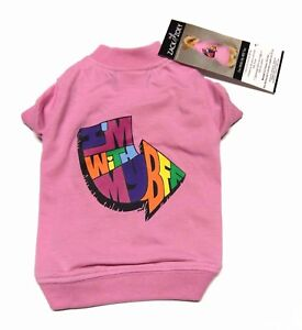 NWT Zack & Zoey Pink I'm With My BFF Best Friends Dog Pet Tee T-Shirt X-Small