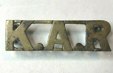 WW1 Kings African Rifles Regiment Other Ranks Brass Shoulder title