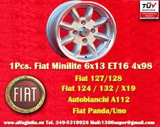 1 Cerchio FIAT Minilite 6x13 ET16 4x98 N.1 Wheel Felge Llanta Jante TUV