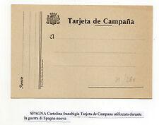 FRANCOBOLLI 1937/40 SPAGNA CARTOLINA FRANCHIGIA TARJETA D/5335