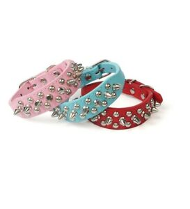 Dog Collar Punk Spike Leather Durable Round Shaped Pet Decoration Accessories