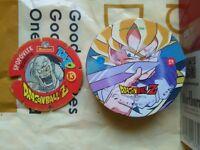 DRAGON BALL Z  MENKO CAP TAZO POG ROUND