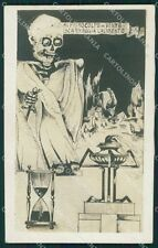 WWI Propaganda Scheletro Skeleton Teschio Foto cartolina postcard QT5099
