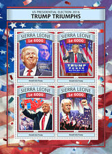 Sierra Leone 2016 MNH Donald Trump Triumphs US Elections Clinton 4v M/S Stamps