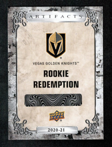 2020-21 UD Artifacts Rookie Redemption #209 Dylan Coghlan #/999 Golden Knights