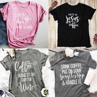 I Run On Coffee Chaos And Cuss Words T-shirt Tumblr Shirt Coffee Tee Unisex Tops