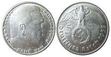 J367 5 Reichsmark Hindenburg 1938 J in f.STG   442012
