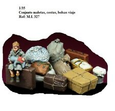 1/35 accesorios resina conjunto maletas refugiados M.I. 327
