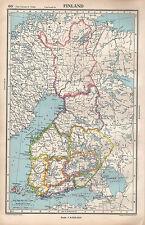 1952 MAP ~ FINLAND ~ VAASA OULU LAPPI LAPLAND