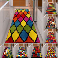 Multi Colour Hand Carved Hallway Runner Rug Living Room Bedroom Carpet Floor Mat
