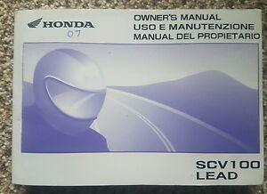 Honda SCV100 Owners Manual