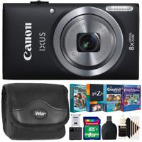 Canon PowerShot IXUS 185 / Elph 180 20MP Camera Black with Photo Editing Kit