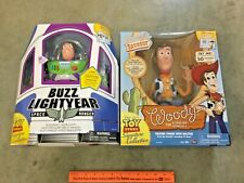 RARE Toy Story talking Woody & Buzz Lightyear Signature Collection, FREE ship!