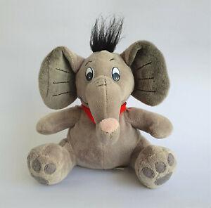 Sparkasse Stofftier Elefant | grau Werbeartikel Kuscheltier Halstuch rot 20 cm