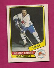 RARE 1976-77 OPC WHA # 59 NORDIQUES RICHARD GRENIER ROOKIE NRMT-MT (INV# A6250)