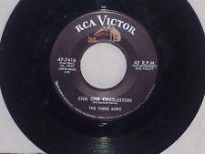 Jazz,Pop 45 The Three Suns CHA CHA CHARLESTON/VOLCANO 1958 RCA 7416