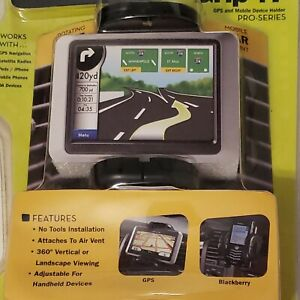 Brackerton Grip-iT Cell Phone GPS Vent Mount Expands Rotates iPhone Android Pro