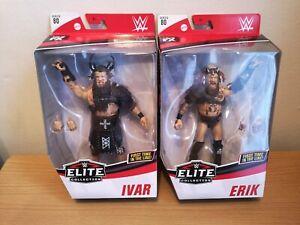 WWE Elite Series 80 Erik & Ivar Figures, Brand New In Sealed Packages