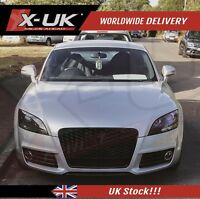 Front grill gloss black with lower frame for Audi AUDI TT / TTS 2006-2014