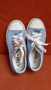 Sneaker Turnschuhe Schuhe Chucks Jungen Gr. 34 hellblau
