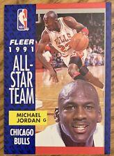 MICHAEL JORDAN, 1991-1992 FLEER ALL STAR CARD, NBA LEGEND ! WOW !