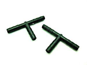 "2x Fits Honda 4mm 5/32"" Vacuum Splitter T Connectors Windshield Washer Tee"