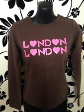 FRUIT OF THE LOOM WOMEN TOP BROWN SIZE XS exelent condition