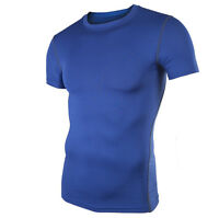 Mens Compression Base Layer Armour Tights Top Running Sports Under Skin T-Shirts