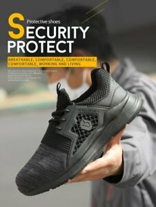 Men Steel Toe Cap Saftey Protective Shoes Lightweight Working Trainers Boots O1
