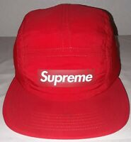 Supreme Raised Logo Patch Camp Cap Royal Red S/M SS18