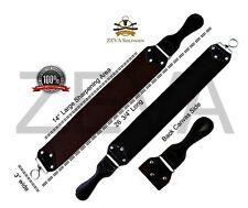 "26 3/4"" Wide Leather Sharpening Strop Strap Belt For Straight Razor Sharpener"
