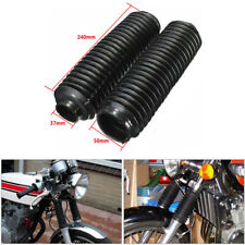 37mm 22 Knots Plastic Front Motorcycle Fork Cover Gaiters Boots Dust Guard