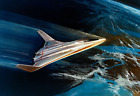 "1970 Early NASA Space Shuttle Concept Art Old Print 13"" x 19"" Reprint"