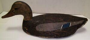 Vintage Primitive Folk Art Duck Decoy Carved Wood NO RESERVE Selling Many !