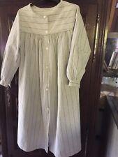 Ancienne blouse / robe campagne régionale  en coton rayé rapiécé