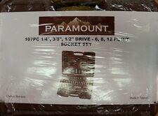 Socket Set-Paramount BM118-B - 107 Piece Set New! 1/4 3/8 1/2 DR 6/8/12P SET