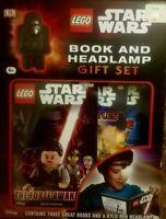 Lego Star Wars Books and Headlamp Book Gift Set NEW Darth Vader